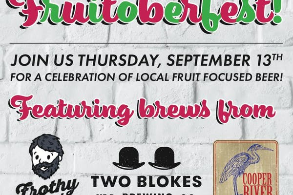 Fruitoberfest at the Tattooed Moose Downtown for Charleston Beer Week (Rescheduled!)