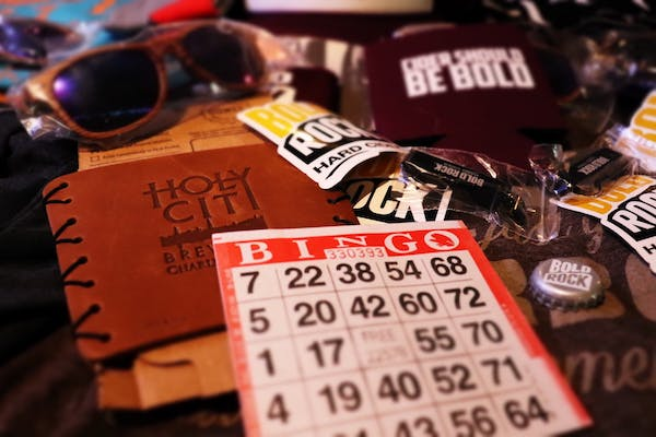 Bingo at Charleston Beer Works with Bold Rock Cider